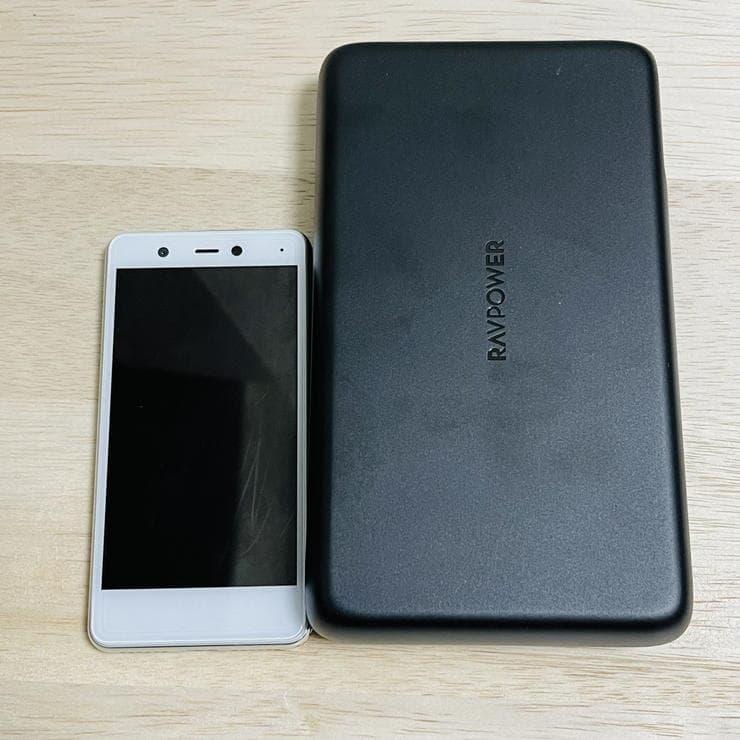 RAVPower RP-PB232と楽天モバイルのRakuten mini