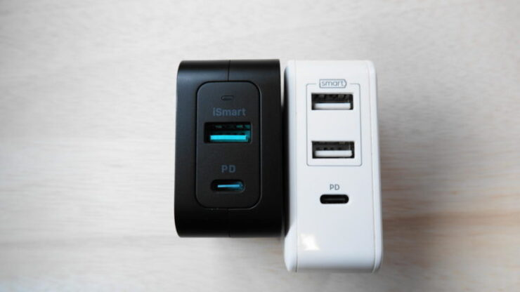 RAVPower『RP-PC133』 の充電ポートRP-PC060比較