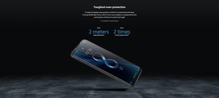 Zenfone8(ZS590KS)のディスプレイはCorning Gorilla Glass Victus
