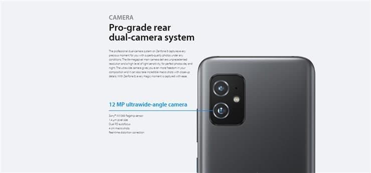 Zenfone8(ZS590KS)のリアカメラ