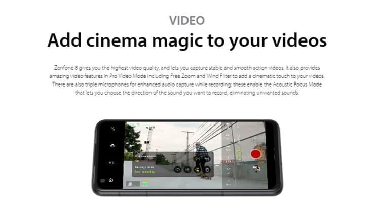 Zenfone8(ZS590KS)のアコースティックフォーカスモードで動画撮影が楽しみ
