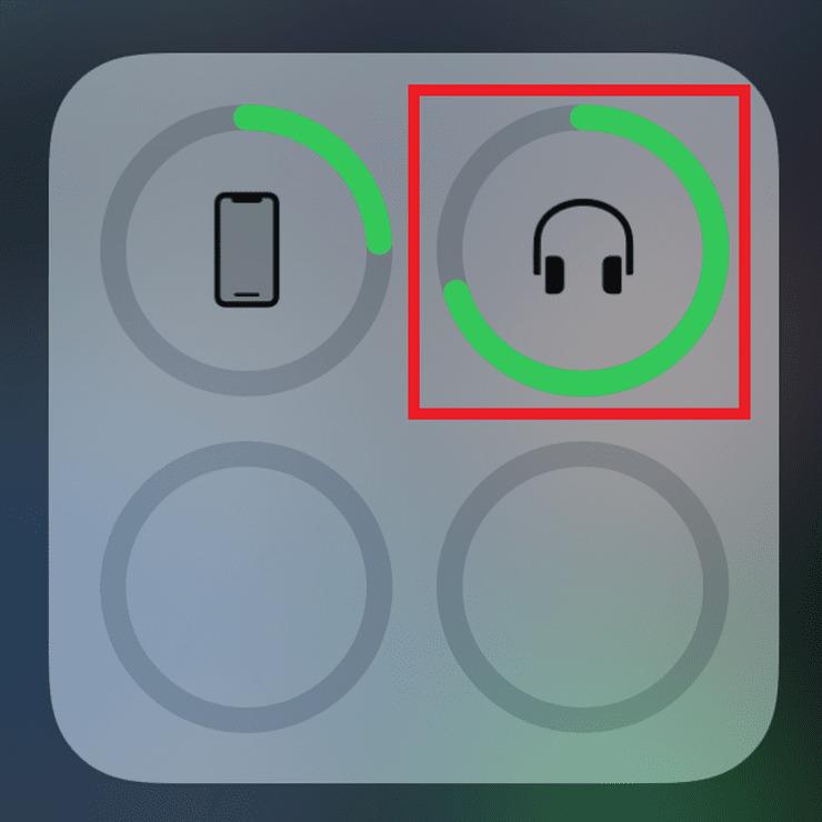 cheero gemのバッテリー残量(iPhone)