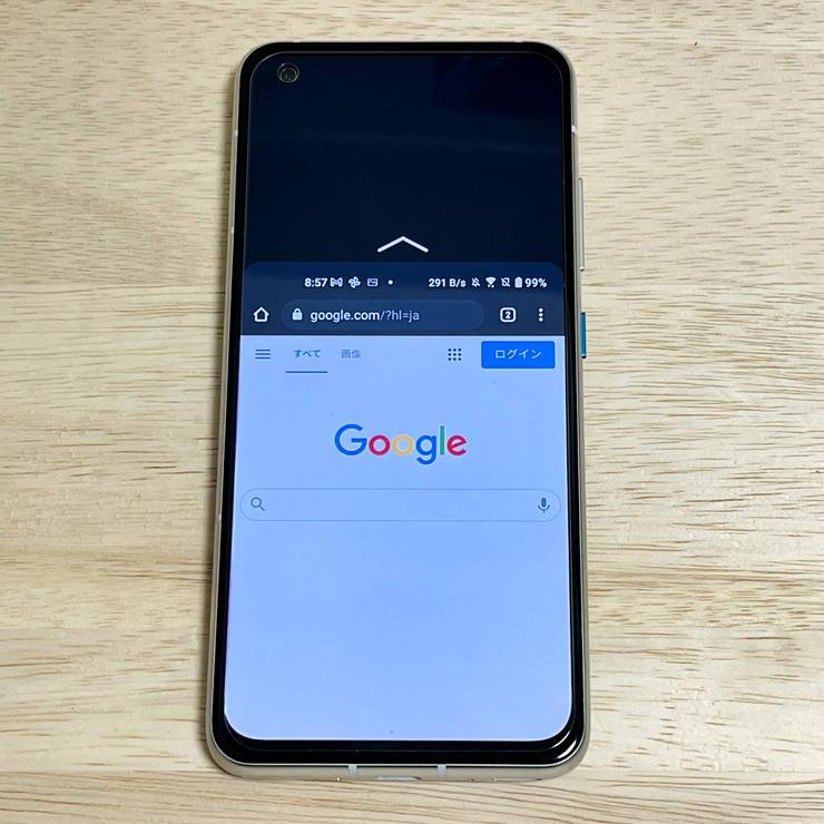 Zenfone8の片手モード表示
