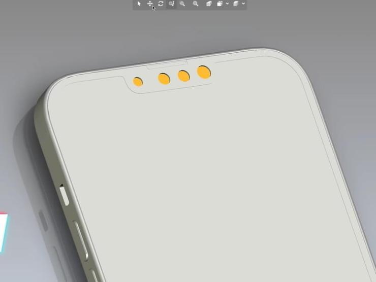 iPhone13ディスプレイノッチ部分のリーク画像